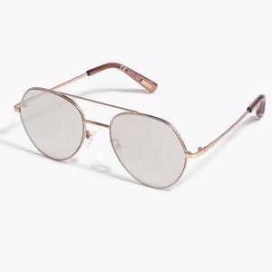 J. CREW Angled Aviator Sunglasses